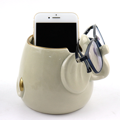 Ceramic Elephant Safety Glasses Holder