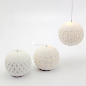ceramic christmas hanging ornaments with led