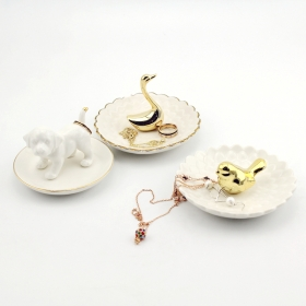 Animal Jewelry Dish Gold