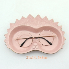 Upright Ceramic Animal Face Eyeglass Holder